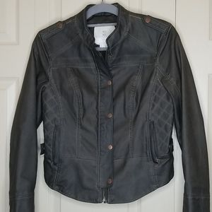 ANTHROPOLOGIE Gray Faux Leather Jacket